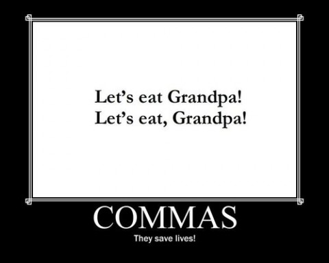 graphic on commas