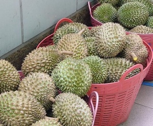 baskets of durian